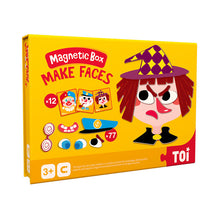 Load image into Gallery viewer, Toi World Magnetic Toy Box, Family Bonding Game, Develops Child's Imagination and Constructive Skills (Make Faces Design)