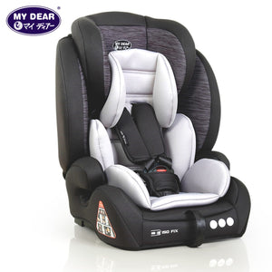 My Dear 30036 Booster Car Seat with Isofix, Zip Cover & Adjustable Headrest