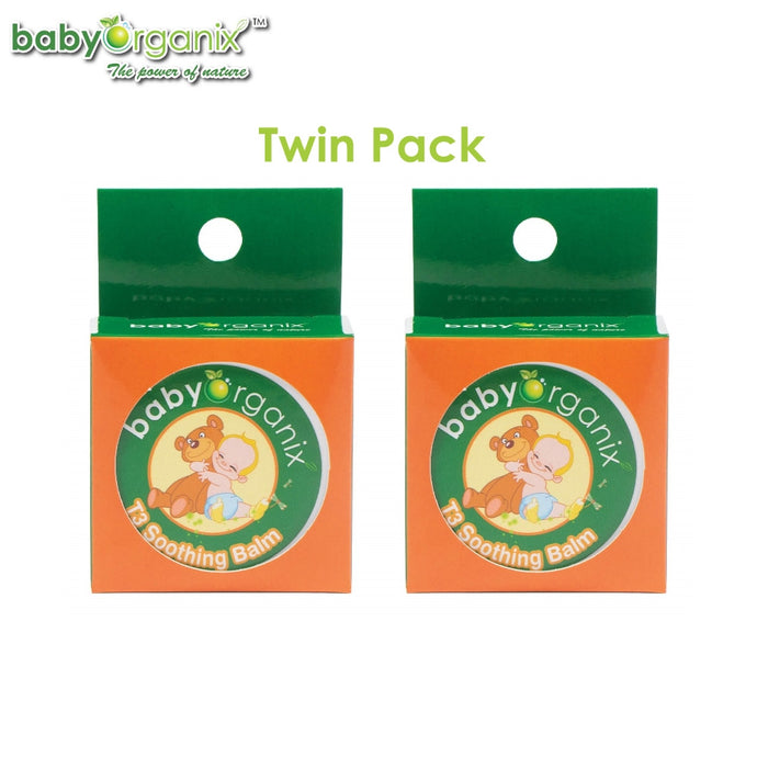 Baby Organix T3 Soothing Balm 20g TWIN PACK, Soothes and Relieves Dry Itching Skin, Mosquito After Bite Balm (Expiry: 08/2023)