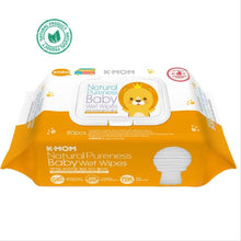 Load image into Gallery viewer, K Mom Natural Pureness Baby Wet Wipes / Tissues Premium Embossing 80 Pieces With Cap