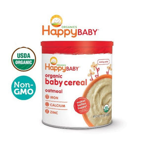 Happy Baby Organic Baby Cereal (Oatmeal) 198g USDA Organic Starting Solids For Baby