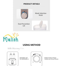 Load image into Gallery viewer, Malish Multi-Functions Baby Bottle Warmer & Sterilizer with 1 Year Warranty