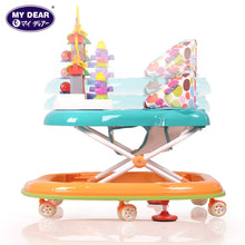 Load image into Gallery viewer, My Dear Baby Walker 20113 With Detachable Music Tray, 6 Wheels And 3 Adjustable Height Levels