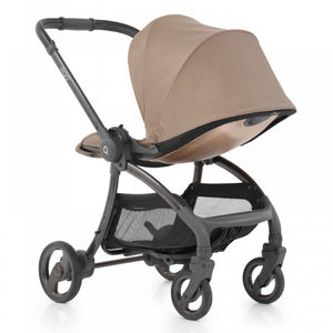Egg Quail Stroller Latte On Chassis With Gold Back Panel