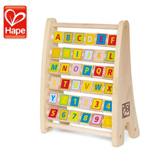Hape Alphabet Abacus Wooden Toy For Baby and Toddler