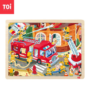 Toi World Wooden Jigsaw Puzzle For Toddlers, Early Learning and Developmental Toy
