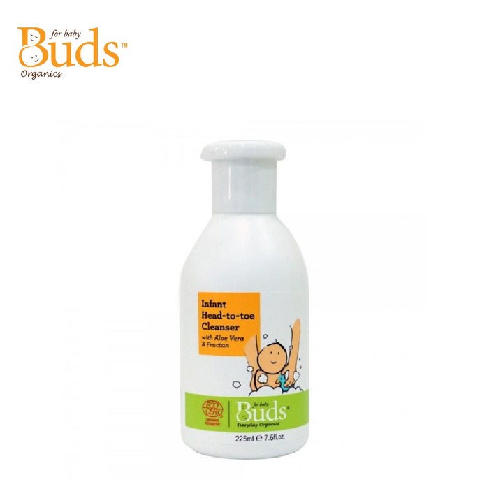 Buds Everyday Organics Infant Head to Toe Cleanser With Aloe Vera & Fructan 225ml (Expiry: 10/2022)