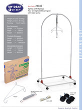 Load image into Gallery viewer, My Dear Spring Cot Cradle Epoxy 24049 with Safety Belt Included