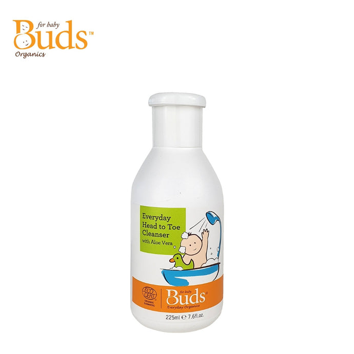 Buds Everyday Organics Everyday Head to Toe Cleanser 225ml With Aloe Vera (Expiry: 05/2023)