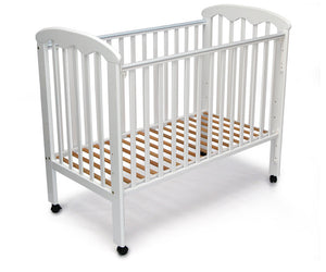 "My Dear Ramin Wooden Baby Cot 26012 White Color Size 24"" X 48"""