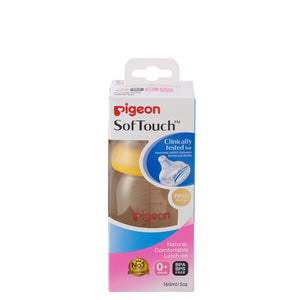 Pigeon SoftTouch 5oz / 160ml PPSU Nursing Bottle For Baby From 0m+ BPA BPS Free