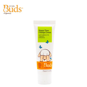 Buds Everyday Organics Nappy Time Change Cream 75ml With Sunflower Oil, Vitamin E & Bisabolol (Expiry: 04/2023)