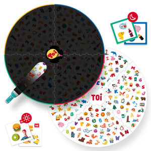 Toi World Find It Out With Small Flashlight Cards Family Bonding Game & Toy For 1 to 4 Players, Suitable For 3 Years Old and Above