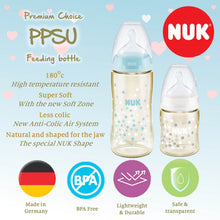 Load image into Gallery viewer, NUK Premium Choice+ PPSU Baby Feeding Bottle 300ml (Single) with Extra Soft 0-6 Months Silicone Teat