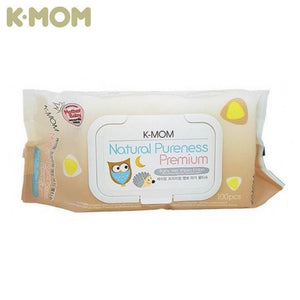 K Mom Natural Pureness Baby Wet Wipes / Tissues Premium Embossing 100 Pieces With Cap
