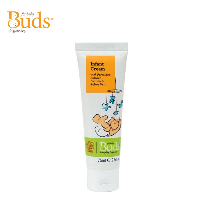 Buds Everyday Organics Infant Cream 75ml With Portulaca Extract Inca Inchi & Aloe Vera (Expiry: 07/2023)