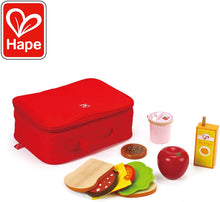 Load image into Gallery viewer, Hape Lunch Box Set Kid's Wooden Kitchen Pretend Play Food and Accessories