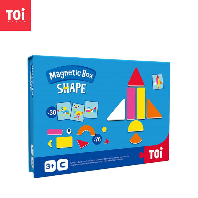 Toi World Magnetic Toy Box, Family Bonding Game, Develops Child's Imagination and Constructive Skills (Shapes Design)