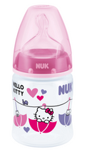 Load image into Gallery viewer, NUK Premium Choice Hello Kitty 150ml PP Bottle With 0-6 Months Teat