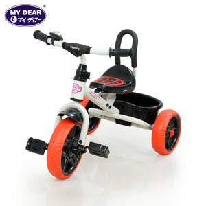 My Dear Tricycle 21095 With Adjustable Seat, Bell and Rear Basket