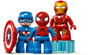 Lego 10921 Duplo Marvel Super Heroes Lab with Spiderman, Ironman and Captain America, Suitable For Toddlers 2 Years Old and Above
