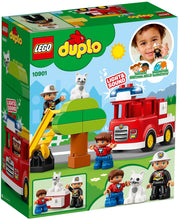 Load image into Gallery viewer, Lego Duplo Town Fire Truck 10901 Building Blocks