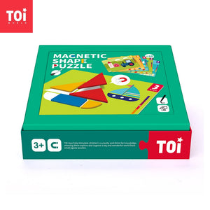 Toi World Magnetic Shape Puzzle With 60 Game Cards of Different Difficulty Levels