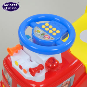 My Dear 23026 Ride On Toy Car with Music Operated Steering Wheel, Detachable Handle Bar & Rear Basket
