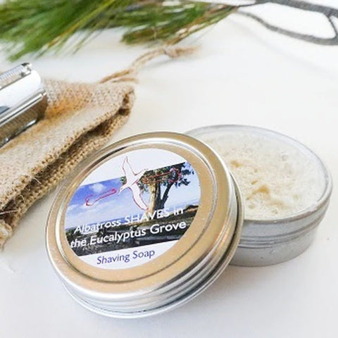 Albatross SHAVES in the Eucalyptus Grove Shave Soap