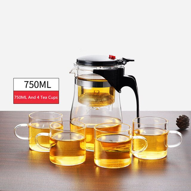 Heat Resistant Glass Tea Infuser Pot or Tea Set. FREE SHIPPING.