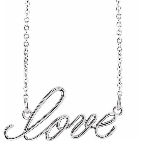 """Love"" Necklace 16.5"" - Henry D Jewelry"