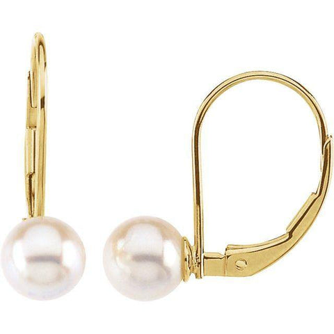 Akoya Pearl Earrings - 14K Yellow Gold - Henry D