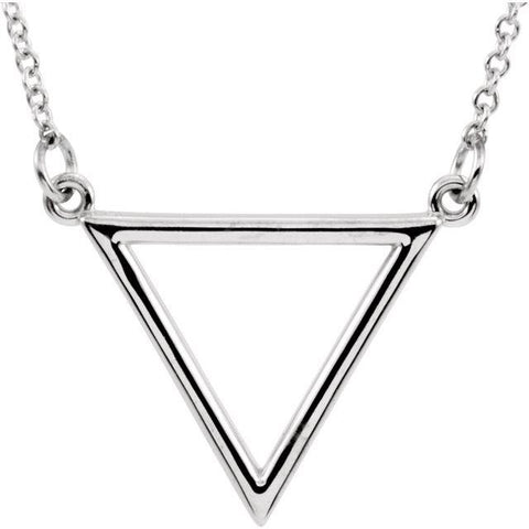 "Triangle Necklace 16"" - Henry D Jewelry"