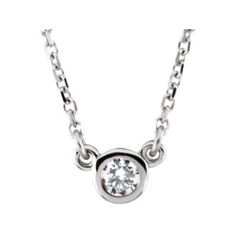 Diamond Solitaire Necklace .27 ct 18""
