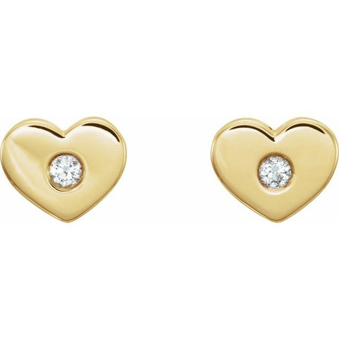 Diamond Heart Earrings .06 ctw