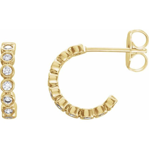 Lab-Grown Diamond Hoop Earrings 1/3 ctw