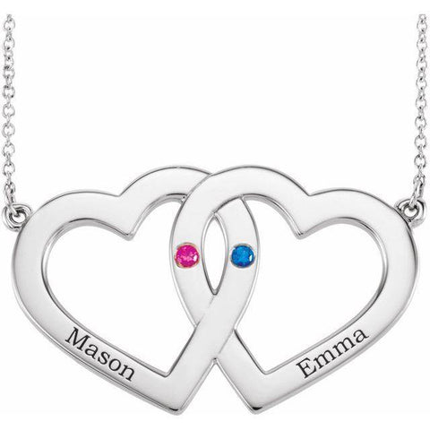 Family Engravable Heart Necklace