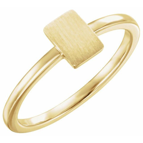 Engravable Rectangle Signet Ring