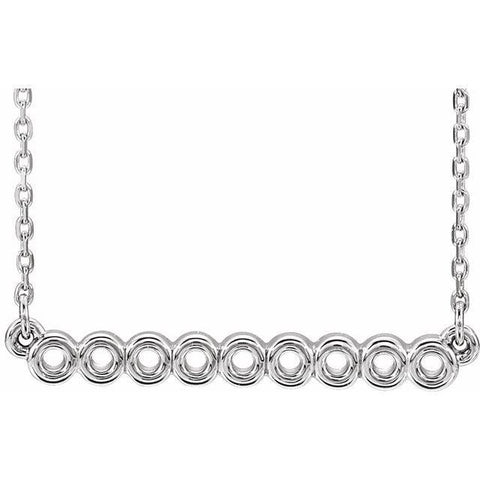 "Circle Bar Necklace 16-18"" - Henry D Jewelry"