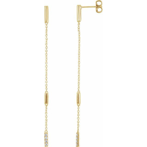 Diamond Chain Earrings 1/10 ctw