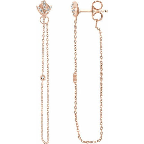 Diamond Chain Earrings .08 ctw
