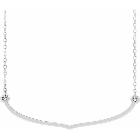 "Freeform Bar Necklace 16-18"" - Henry D Jewelry"