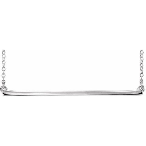 "Bar Necklace 16-18"" - Henry D Jewelry"