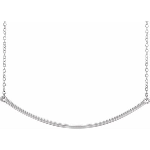 "Curved Bar Necklace 16-18"" - Henry D Jewelry"