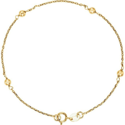 "Youth Station Bracelet 6"" - 14K Yellow Gold"