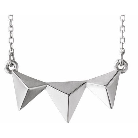 "Pyramid Bar Necklace 16-18"" - Henry D Jewelry"