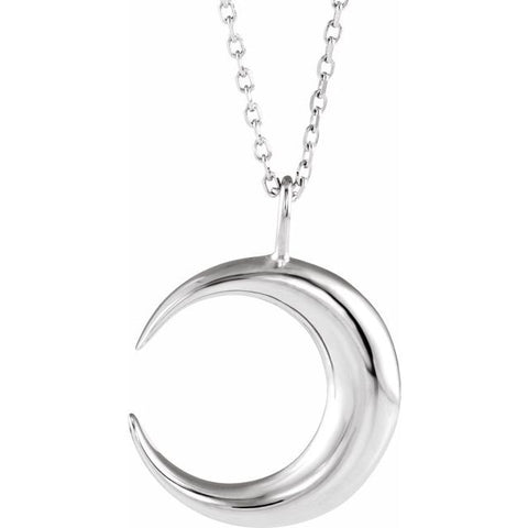 Crescent Moon Necklace 16-18""