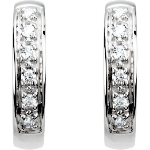 Diamond Hoop Earrings 1/10 ctw