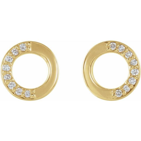 Diamond Circle Earrings .08 ctw