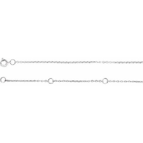 Adjustable Diamond-Cut Cable Chain 16-18""
